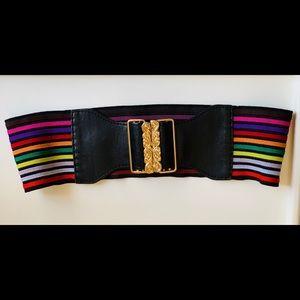 Express Brand Rainbow Waist Elastic Belt